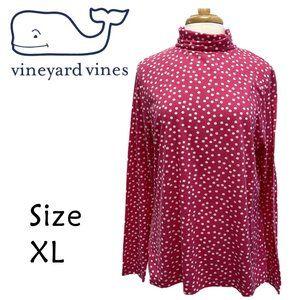 Vineyard Vines Pink White Polka Dot Size XL
